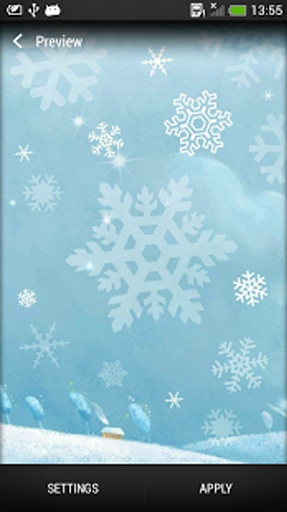 雪花 动态壁纸截图4