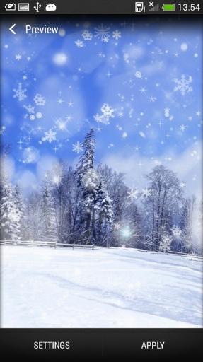 雪花 动态壁纸截图5