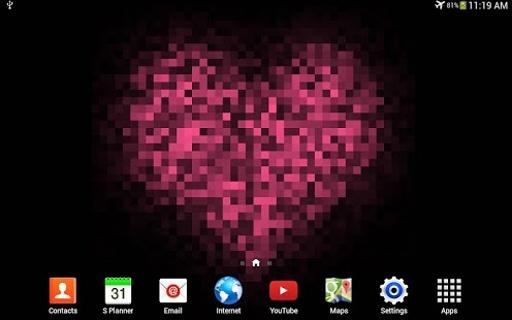 Pixel! 爱心动态壁纸截图0