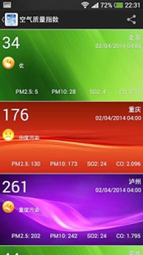 中国 PM2.5截图0