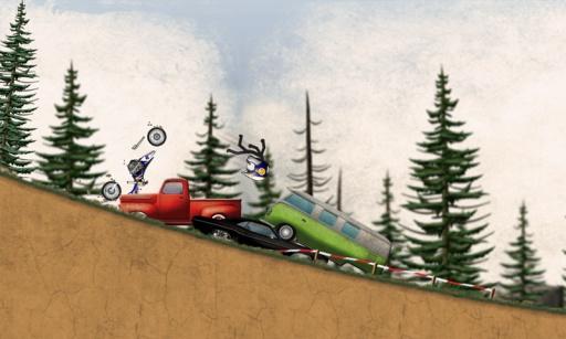 火柴人下坡:越野摩托车截图2