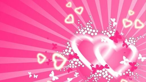 粉红色的心动态壁纸