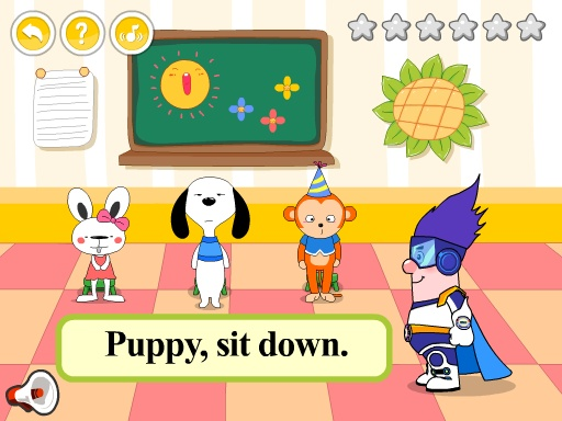 呆呆超人学英语-Happy Time(幼儿英语游戏)-黄金教育 益智 App-癮科技App