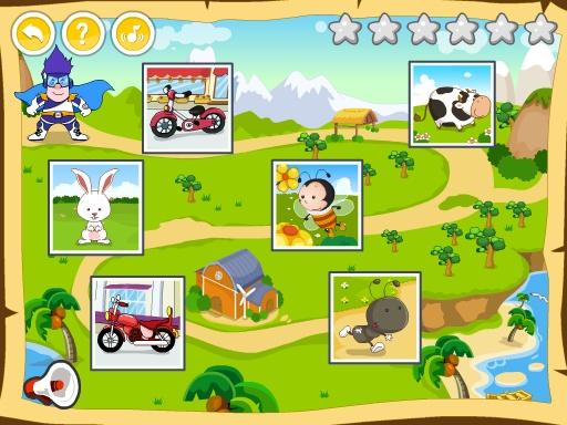 呆呆超人学英语-Jigsaw Puzzle 幼儿英语游戏 -黄金教育