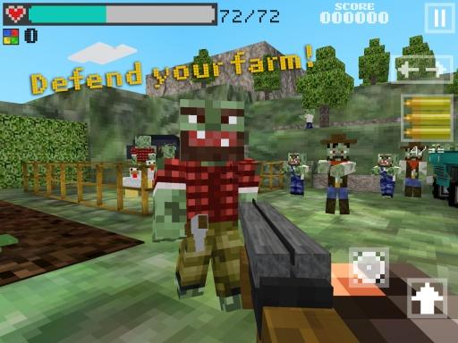 3D像素枪手:僵尸农场截图1