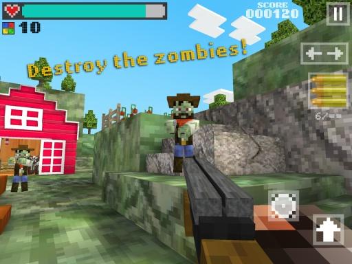 3D像素枪手:僵尸农场截图2