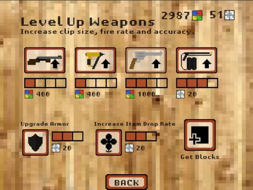 3D像素枪手:僵尸农场截图3