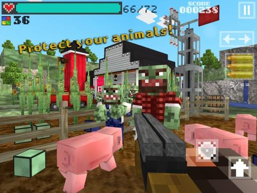 3D像素枪手:僵尸农场截图4