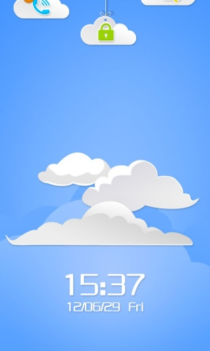 云中漫步主题 锁屏桌面壁纸