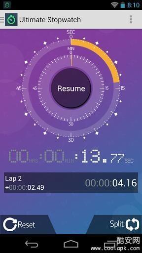 无限秒表计时器截图0