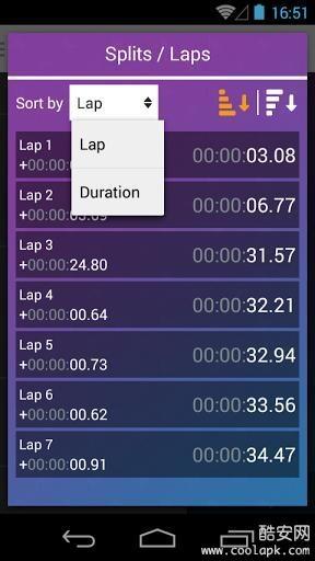 无限秒表计时器截图3