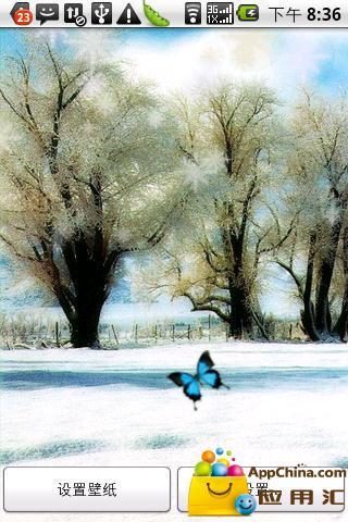 浪漫雪纷飞动态壁纸