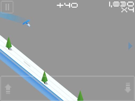 方块人滑雪