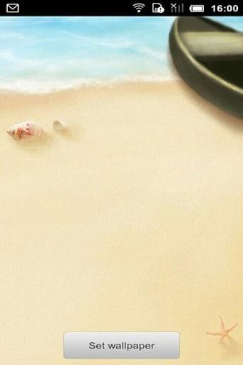 沙滩漫步动态壁纸