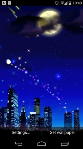 浪漫星空流星动态壁纸1.4图片