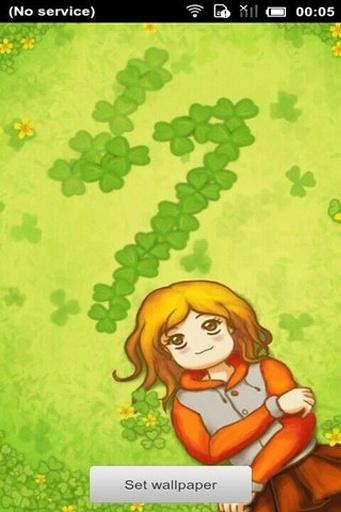 幸福三叶草3D动态壁纸
