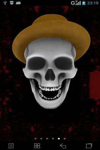 3D海盗骷髅头动态壁纸