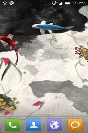 水墨锦鲤动态壁纸截图2