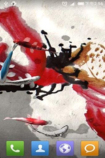 水墨锦鲤动态壁纸截图3