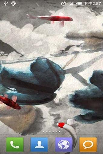 水墨锦鲤动态壁纸截图4