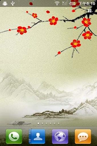 傲雪红梅动态壁纸