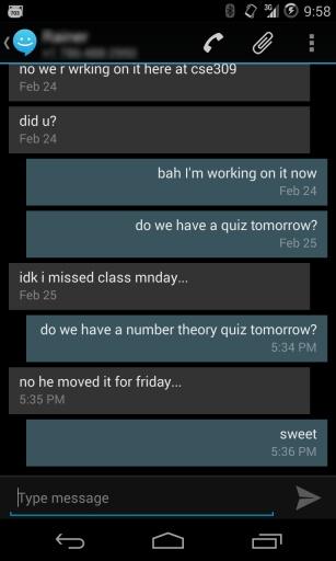 滑动短信(CM短信)