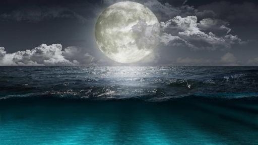 智能手机屏幕,美妙的高分辨率夜图片和享受月光和宁静的夜景高清图片