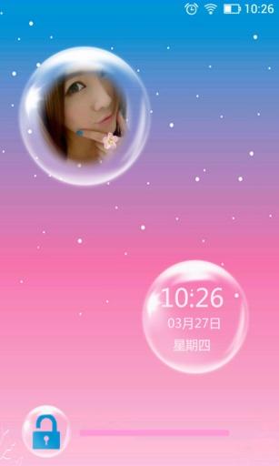 泡泡大头贴主题锁屏 工具 App-愛順發玩APP