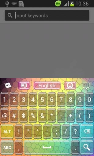 彩色马赛克键盘
