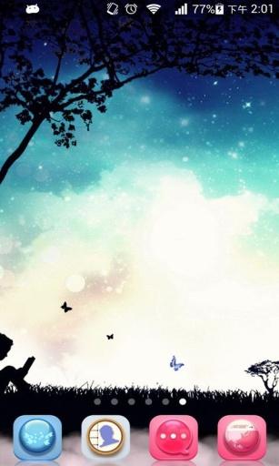 梦幻夜空主题动态壁纸截图2