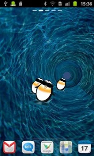 企鹅滑雪3d壁纸