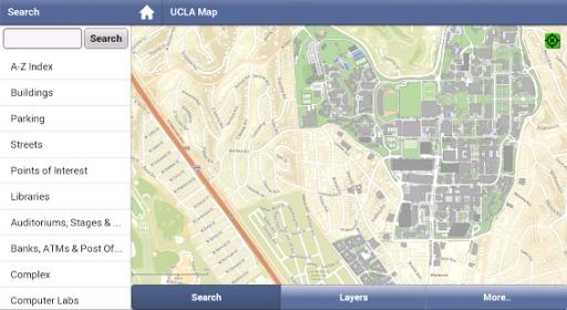 加州大学洛杉矶分校地图