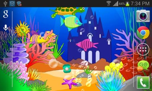 海底世界珊瑚动画边框背景图