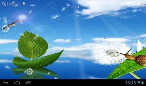 免费下载银河s4的蒲公英的动态壁纸飞种子的形