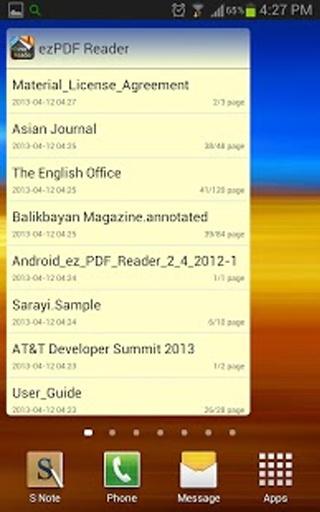 ezPDF Reader Widgets截图0