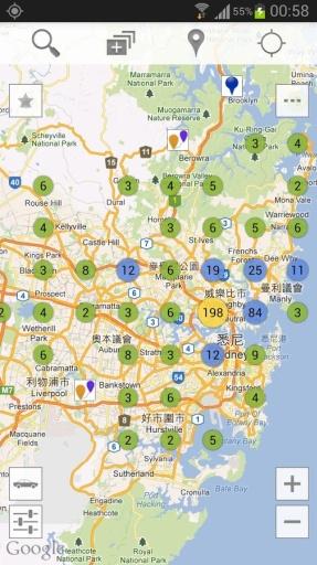 悉尼市中心地图