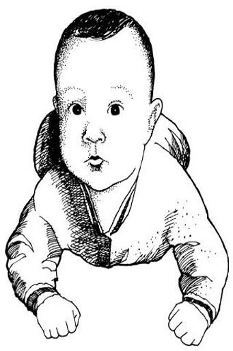 baby铅笔手绘图片
