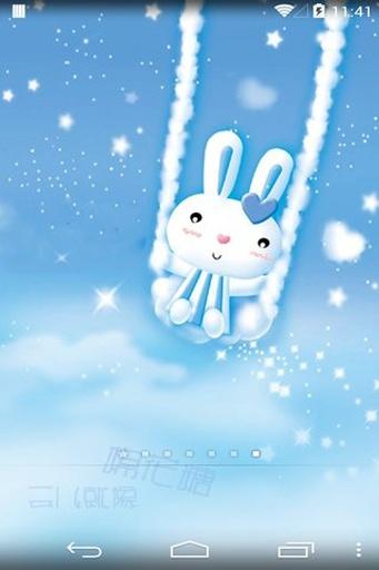 小白兔动态壁纸