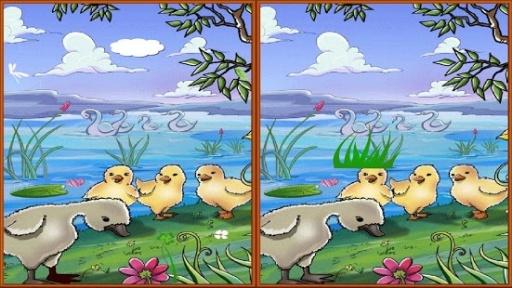 可爱的动物寻找差异