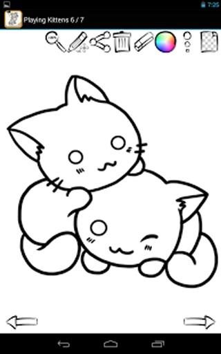 猫黑白色手绘简约