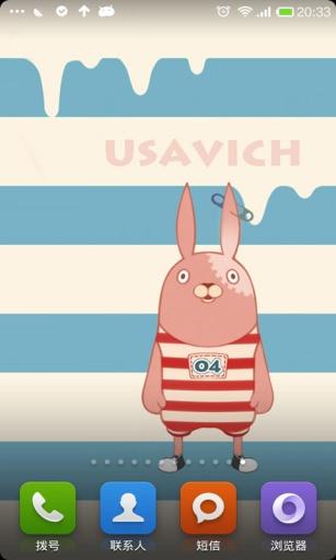 玩免費工具APP|下載Usavich越狱兔主题锁屏 app不用錢|硬是要APP
