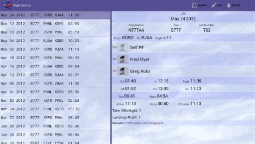 Cirrus Pilot LogBook截图0