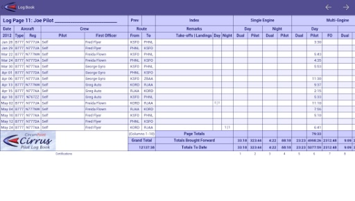 Cirrus Pilot LogBook截图5