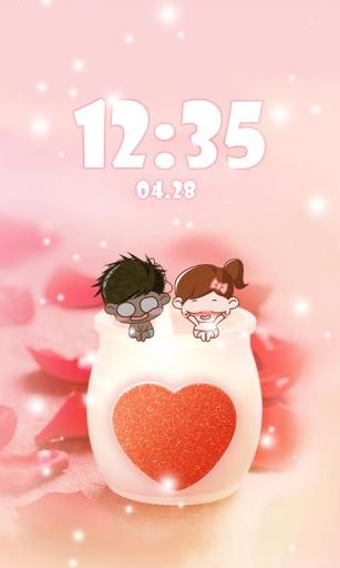 甜蜜的爱(桌面锁屏壁纸) 工具 App-愛順發玩APP
