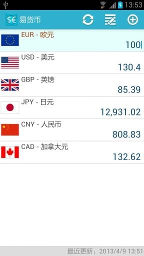 易货币 汇率