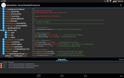 ArduinoDroid集成开发环境截图1
