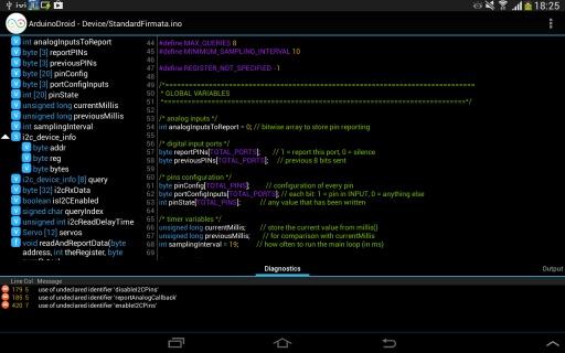 ArduinoDroid集成开发环境截图4