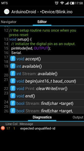 ArduinoDroid集成开发环境截图5
