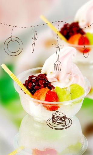 甜蜜冰淇淋主题 桌面锁屏壁纸