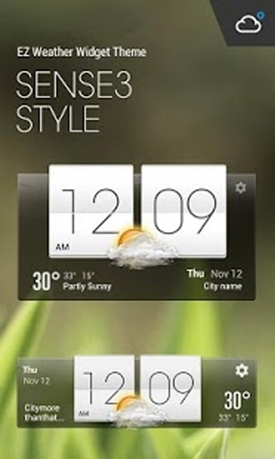 HTC Sense Flip Clock & Weather截图0